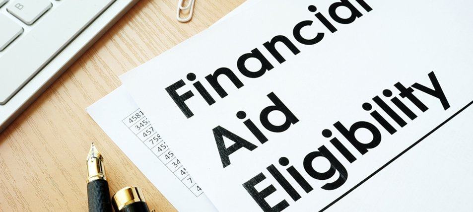 financial aid eligibility printed on paper